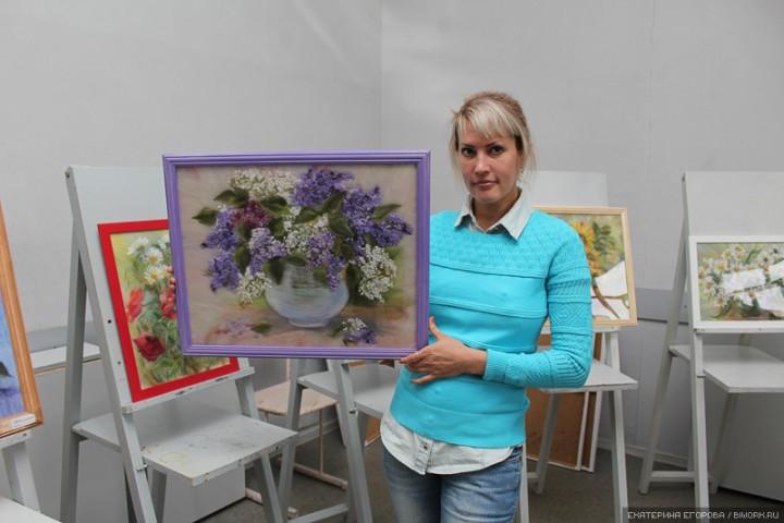Мастер-класс провела московская художница для бийских студентов